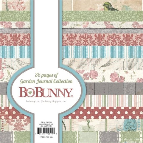 Block Papel Para Scrap 15 x 15 Garden Journal BoBunny - comprar online