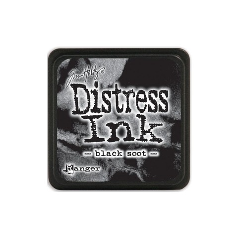 Almohadilla de Tinta Distress Ink Mini Color Black Soot