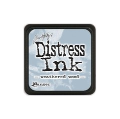 Almohadilla de Tinta Distress Ink Mini Color Weathered Wood