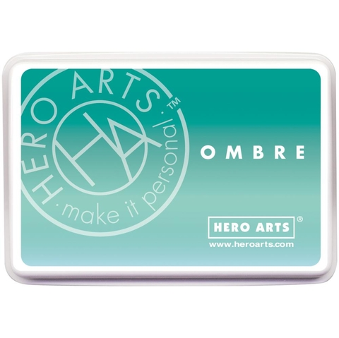Almohadilla de Tinta Tinta Hero Arts Ombre Mint to Green