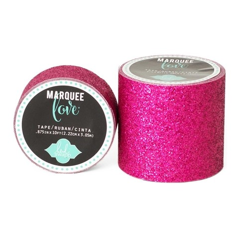 Cinta Decorativa Washi Tape Pink Glitter