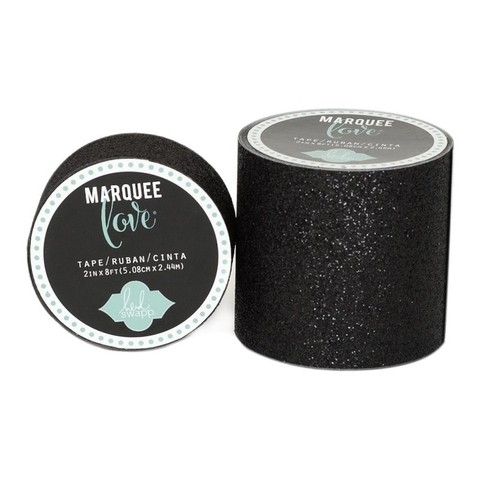 Cinta Decorativa Washi Tape Black Glitter