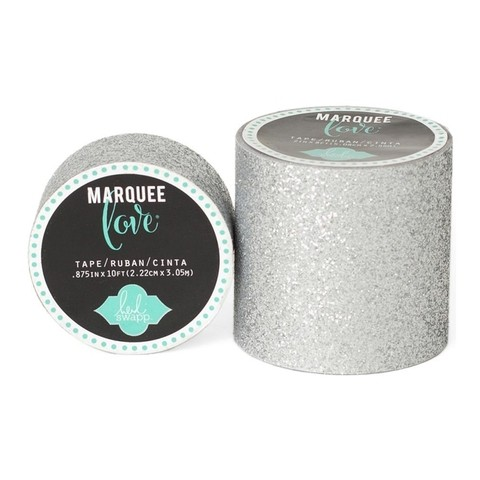 Cinta Decorativa Washi Tape Plateado Glitter