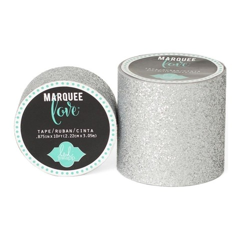 Cinta Decorativa Washi Tape Silver Glitter