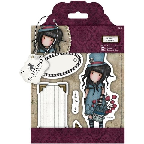 Sellos Cling Stamp Gorjuss The Hatter Santoro - comprar online