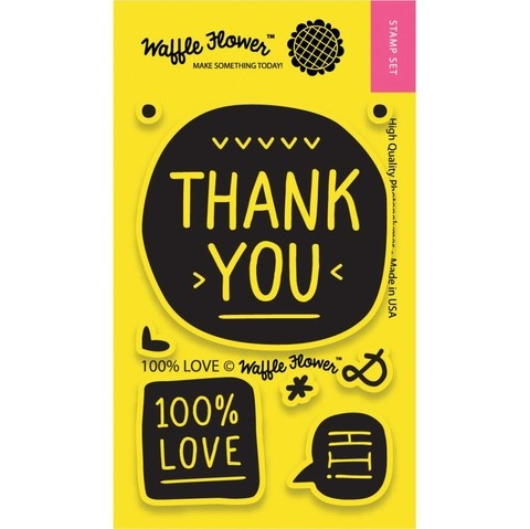 Kit de Sellos 100% Love Clear Stamp Waffle Flower - comprar online