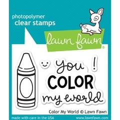 Sellos Color My World Clear Stamp Lawn Fawn - comprar online