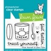kit Sellos y troqueles Treat Yourself Clear Stamp Lawn Fawn - comprar online