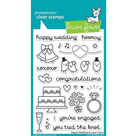Kit de sellos y troqueles Happy Wedding Lawn Fawn