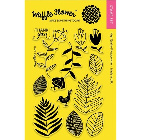 Kit de Sellos Leafy Clear Stamp Waffle Flower - comprar online