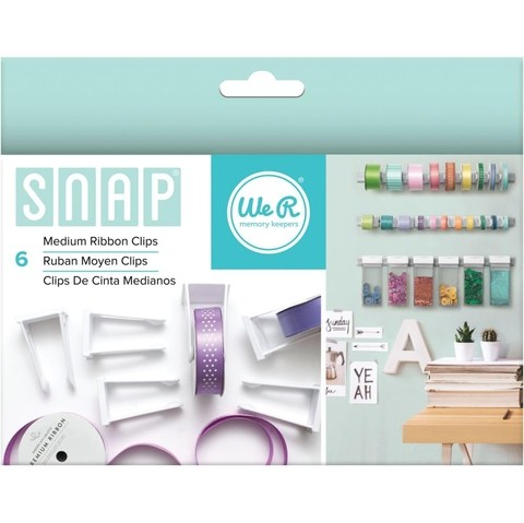 SNAP 6 CLIPS ORGANIZADORES PARA CINTAS MEDIANAS WE R MEMORY KEEPERS
