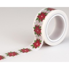 Cinta Decorativa Washi tape Navideña Poinsettia Carta Bella - comprar online