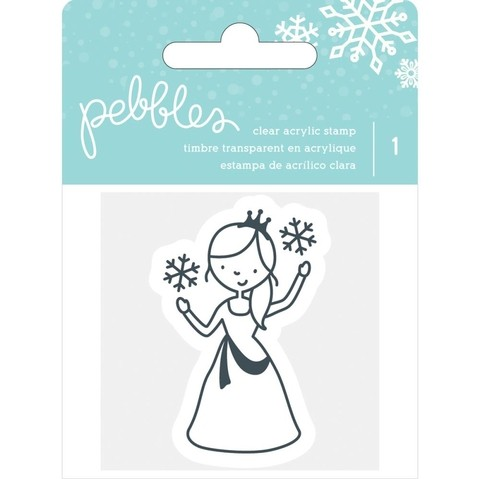 Sello de Princesa Winter Wonderland Clear Stamp Pebbles