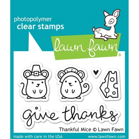 Kit de Troqueladora y Sello Lawn Fawn Ratoncitos Thankful Mice 7.5 cm x 5 cm - comprar online