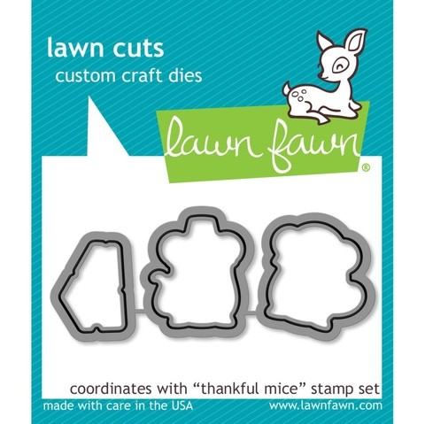 Kit de Troqueladora y Sello Lawn Fawn Ratoncitos Thankful Mice 7.5 cm x 5 cm en internet