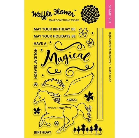 Kit de Sellos Unicornio Magical Clear Stamp Waffle Flower