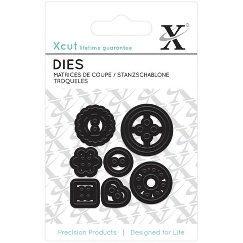 Set de 7 Troqueladoras De Mini Decorative Buttons Xcut - comprar online