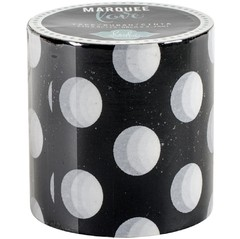 Cinta Decorativa Washi Tape Black & White Polka Dot