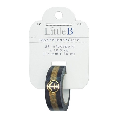 Cinta Decorativa Washi Tape Anchor & Rope Gold Foil Little B - comprar online