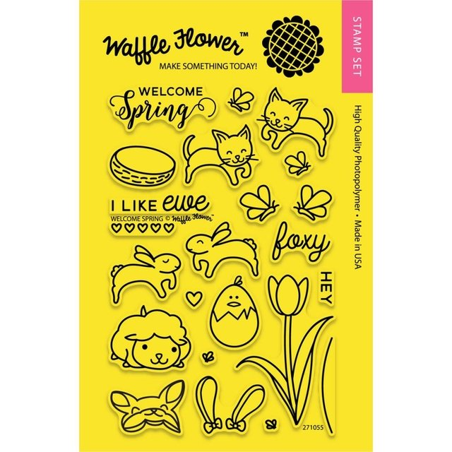 Kit de Sellos Welcome Spring Clear Stamp Waffle Flower