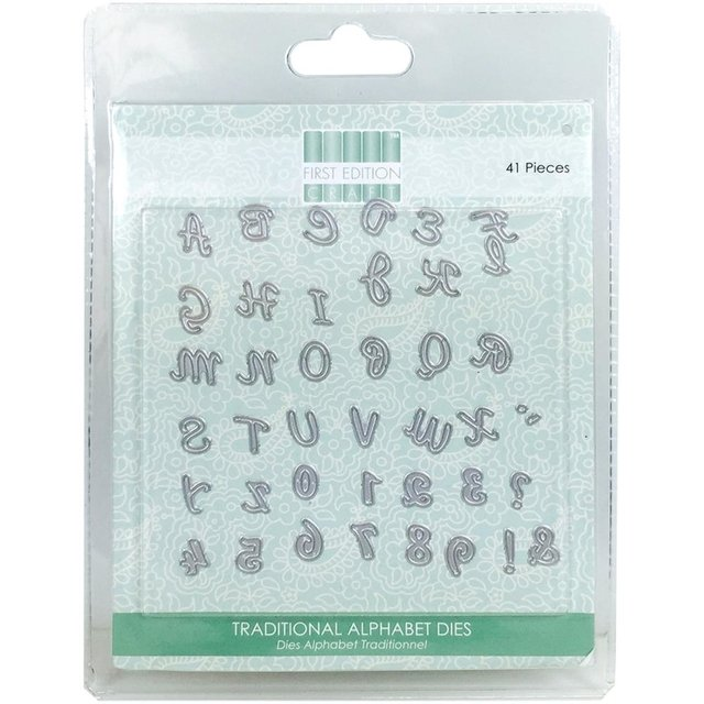 Set de Troqueladoras de alfabeto Traditional Alphabet First Edition - comprar online