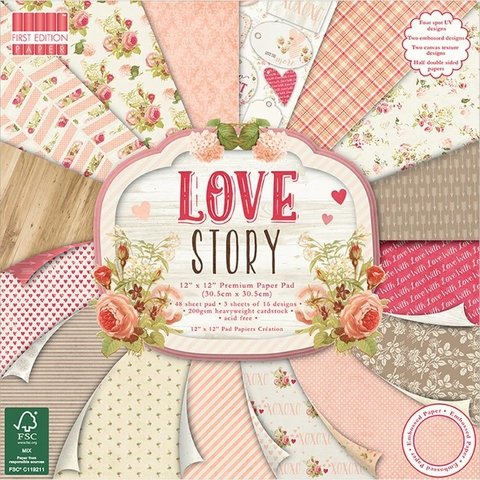 Block Papel Para Scrap 30 x 30 Love Story First Edition - comprar online