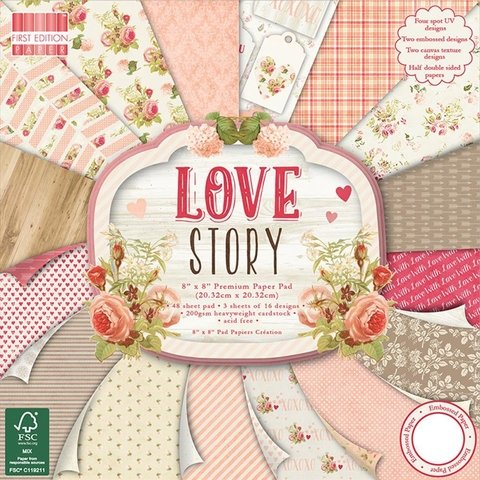 Block Papel Para Scrap 20 x 20 Love Story First Edition - comprar online