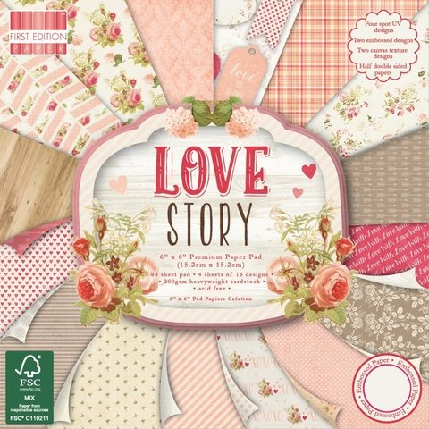 Block Papel Para Scrap 15 x 15 Love Story First Edition - comprar online