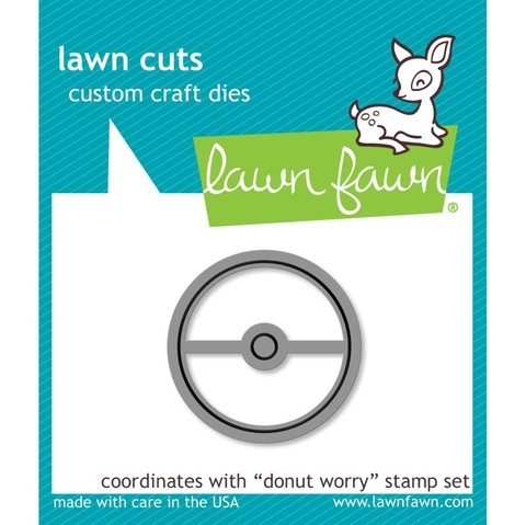 Kit de Troqueles y Sellos Donut Worry Clear Stamp Lawn Fawn en internet
