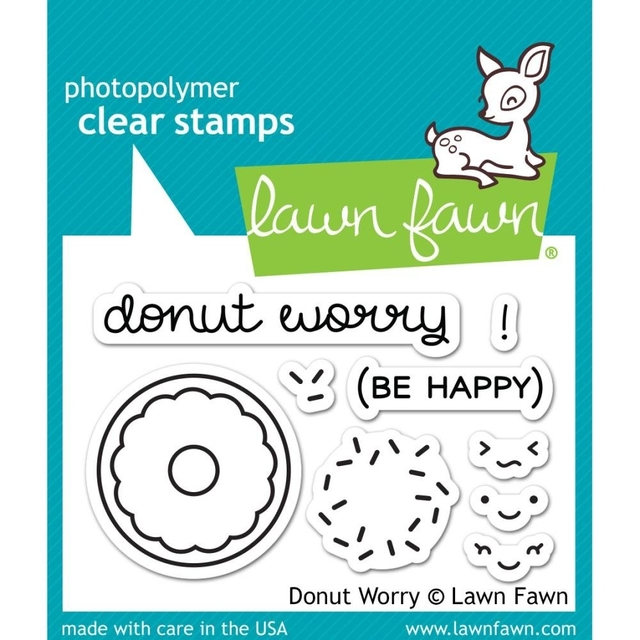 Kit de Troqueles y Sellos Donut Worry Clear Stamp Lawn Fawn