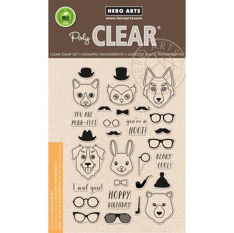 Sellos Hipster Animals Clear Stamps Hero Arts    - comprar online