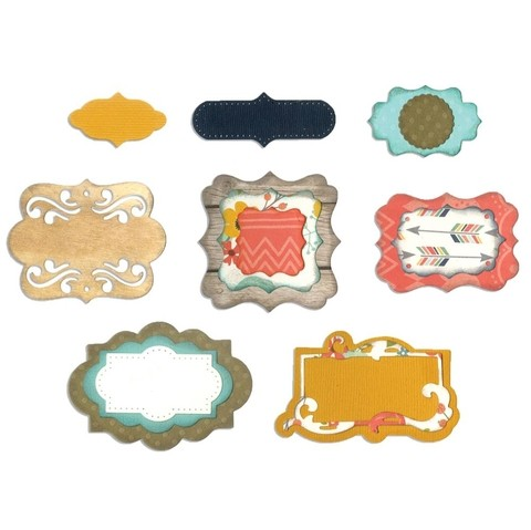Set de troqueladoras de etiquetas Perfect Labels Sizzix Thinlits - comprar online
