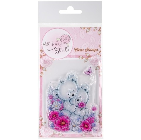 Sello de Bear Hugs Clear Stamp Wild Rose Studio