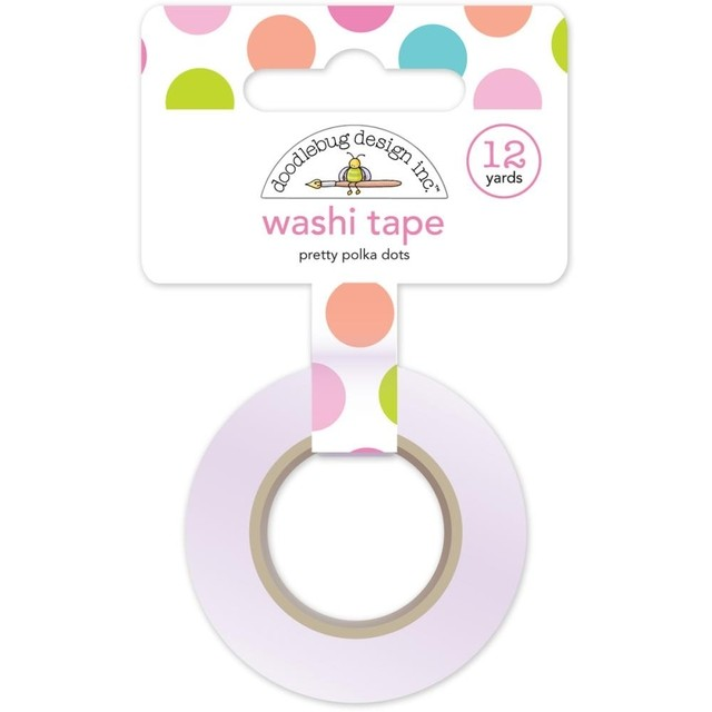 Cinta Decorativa Washi Tape Pretty Polka Dot Doodlebug