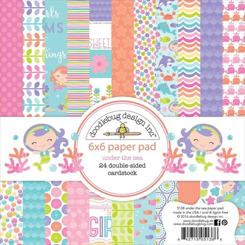 Block Papel Para Scrap 15 x 15 Under The Sea Doodlebug Design - comprar online