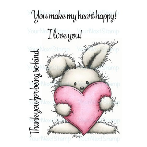 Sello de Conejito Happy Heart Clear Stamp Your Next Stamp - comprar online