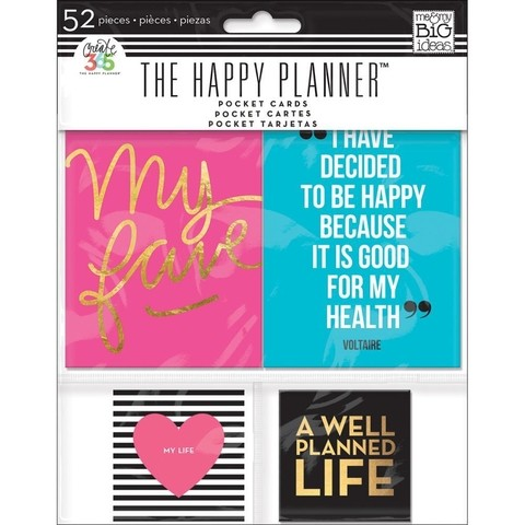 KIT DE 52 TARJETAS PARA HAPPY PLANNER CREATE 365