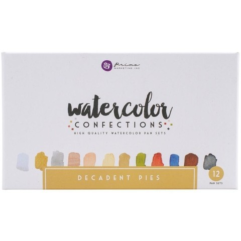 Caja de 12 colores de acuarelas Decadent Pies Prima Marketing - comprar online