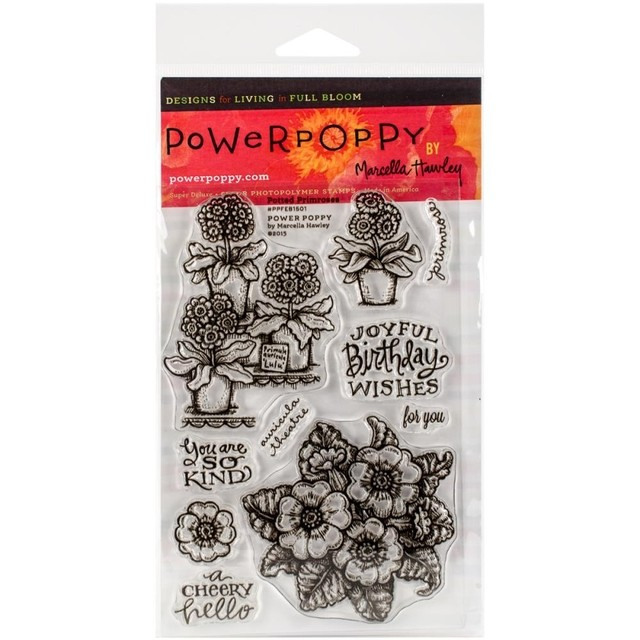 Sellos de Potted Primroses Clear Stamp Power Poppy - comprar online