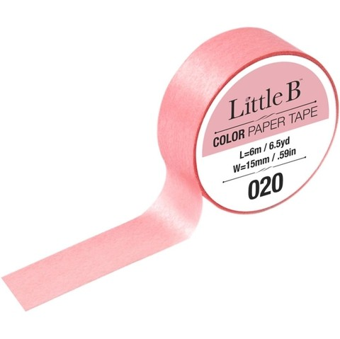 Cinta Decorativa Washi Tape Color Permanent Rose Little B - comprar online
