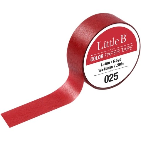Cinta Decorativa Washi Tape Color Cadmium Red Deep Little B
