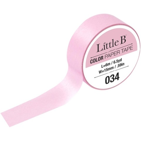 Cinta Decorativa Washi Tape Color Blush Pink Little B