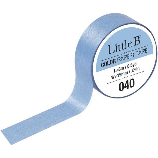 Cinta Decorativa Washi Tape Color Carolina Blue Little B Light