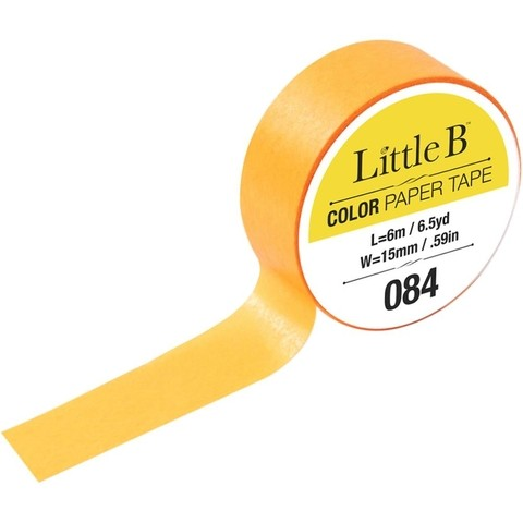 Cinta Decorativa Washi Tape Color Canary Yellow Little B