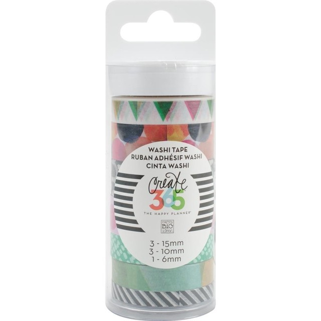 Set de 7 Cintas Decorativas Washi Tape Watercolor Create 365 - comprar online