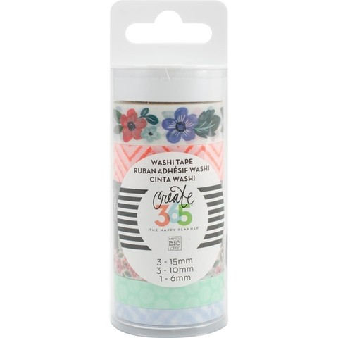 Set de 7 Cintas Decorativas Washi Tape Fresh Floral Create 365
