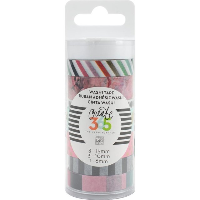 Set de 7 Cintas Decorativas Washi Tape Peony Floral Create 365