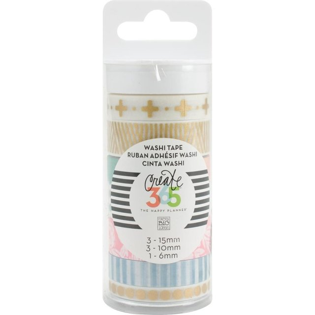 Set de 7 Cintas Decorativas Washi Tape Hello Life Create 365 - comprar online