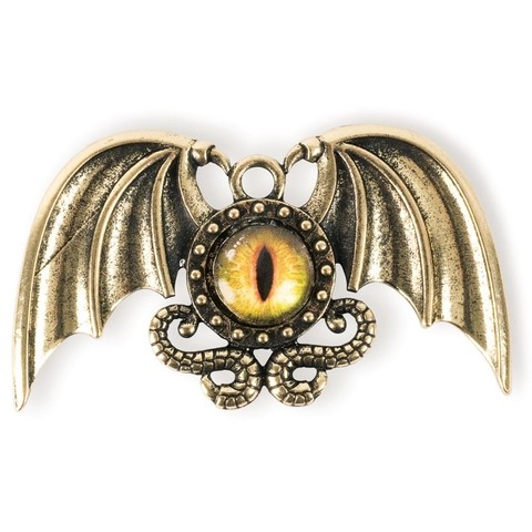 Dije Dragon Eye Winged Steampunk Solid Oak