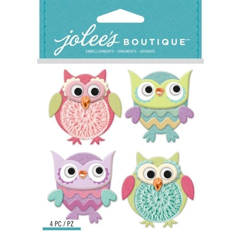 Stickers Tridimensionales Cutesy Owls Jolees